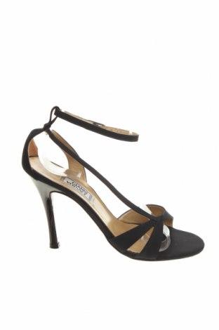 Sandale Gianni Versace, Mărime 37, Culoare Negru, Textil, Preț 250,86 Lei