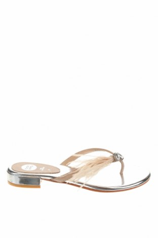 Сандали Gioseppo, Размер 37, Цвят Бежов, Естествена кожа, естествени пера, Цена 29,37лв.