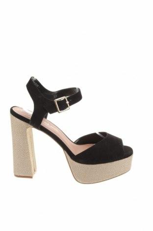 Sandale New Look, Mărime 41, Culoare Negru, Textil, Preț 159,57 Lei