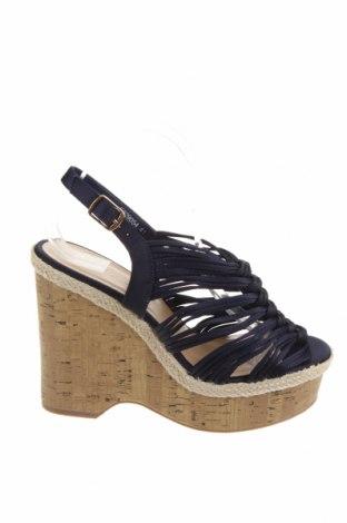 Sandale New Look, Mărime 40, Culoare Albastru, Textil, Preț 138,55 Lei