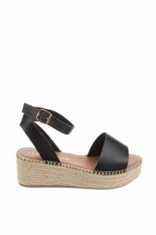 Sandale New Look, Mărime 40, Culoare Negru, Piele ecologică, Preț 143,68 Lei