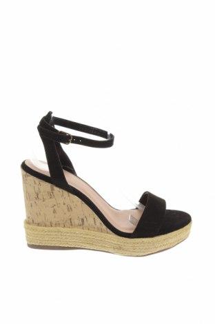 Sandale New Look, Mărime 41, Culoare Negru, Textil, Preț 157,37 Lei