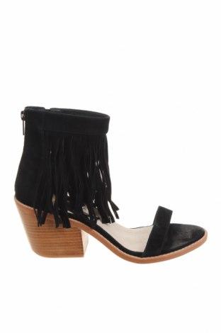 Sandály Sol Sana, Velikost 40, Barva Černá, Přírodní velur , Cena  1150,00Kč
