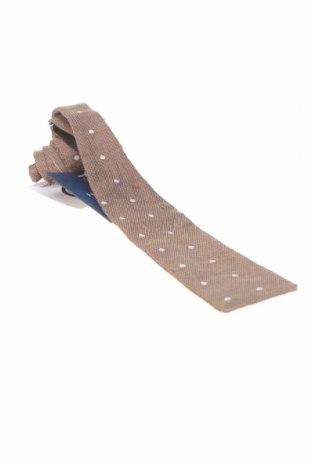 Вратовръзка Hackett, Цвят Кафяв, 61% лен, 39% памук, Цена 19,80лв.