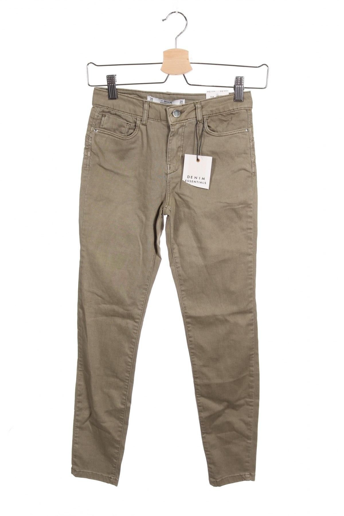 Дамски дънки Lefties, Размер XS, Цвят Зелен, 98% памук, 2% еластан, Цена 12,11лв.