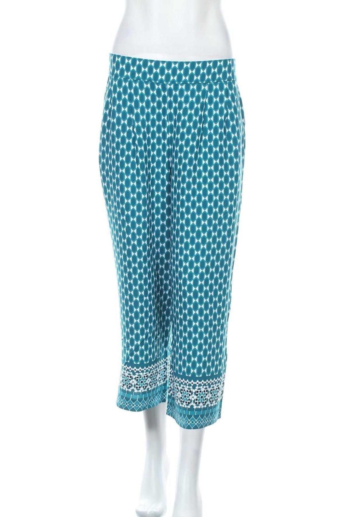 Дамски панталон Zero, Размер M, Цвят Зелен, Вискоза, Цена 59,25лв.