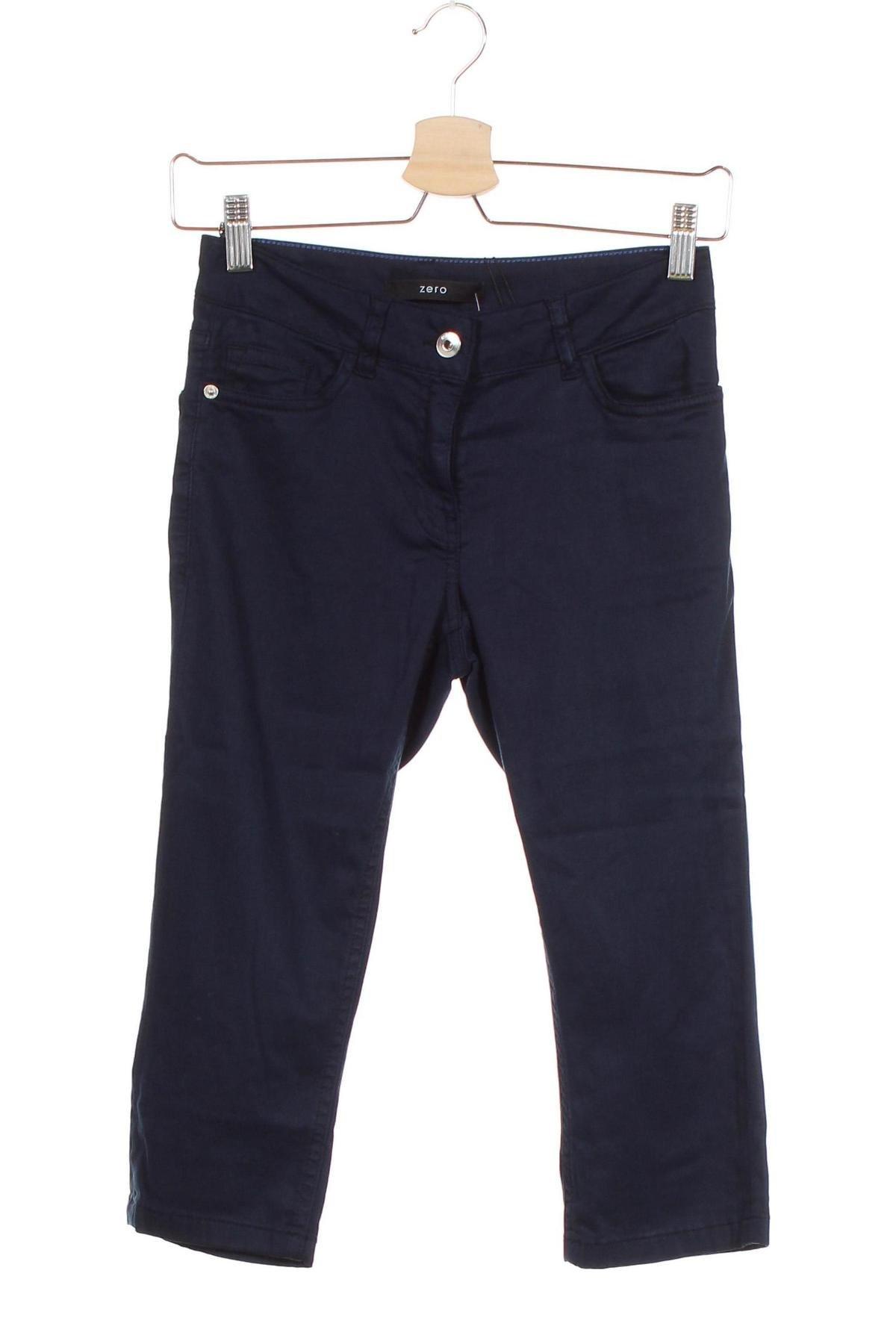 Дамски панталон Zero, Размер XS, Цвят Син, 67% памук, 30% лиосел, 3% еластан, Цена 14,22лв.