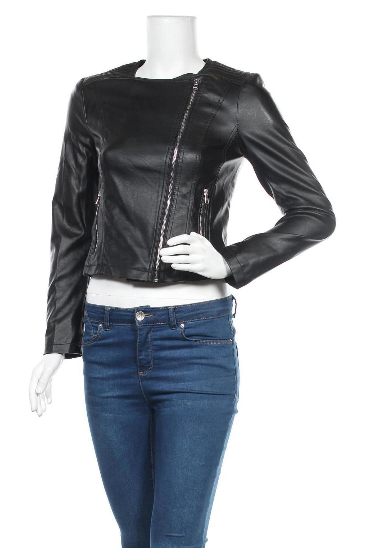 Дамско кожено яке Lft, Размер S, Цвят Черен, Еко кожа, Цена 33,12лв.
