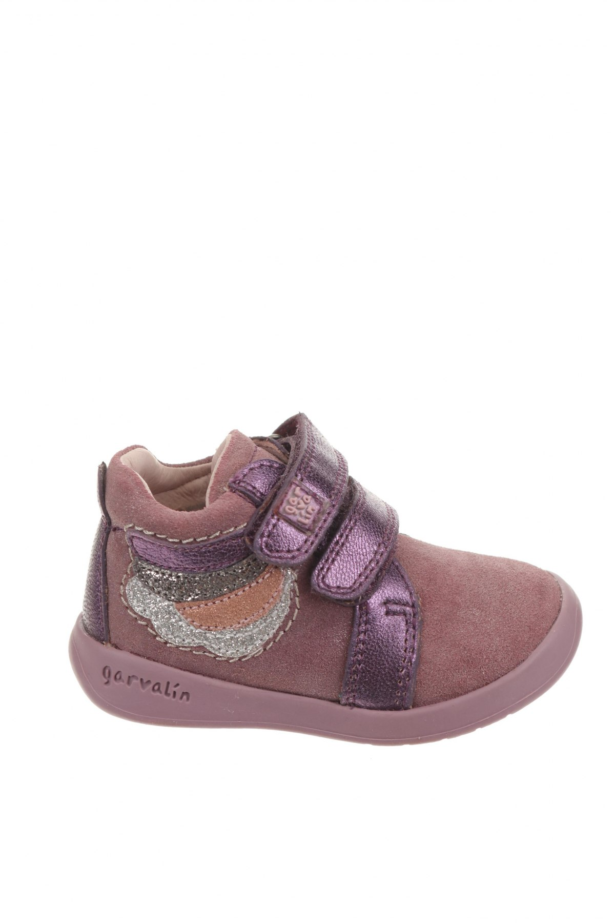 Детски обувки Garvalin, Размер 20, Цвят Розов, Естествен велур, естествена кожа, Цена 66,75лв.