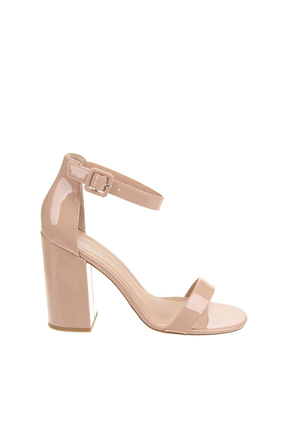 Сандали New Look, Размер 40, Цвят Розов, Еко кожа, Цена 50,44лв.
