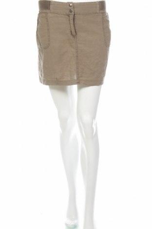 Пола Camaieu, Размер L, Цвят Зелен, 55% лен, 45% памук, Цена 3,00лв.