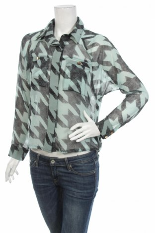 Γυναικείο πουκάμισο, Μέγεθος S, Χρώμα Μπλέ, 100% πολυεστέρας, Τιμή 19,77€