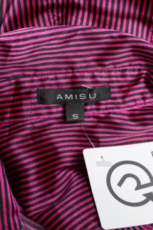 Γυναικείο πουκάμισο Amisu, Μέγεθος S, Χρώμα Βιολετί, 97% πολυεστέρας, 3% ελαστάνη, Τιμή 11,75€