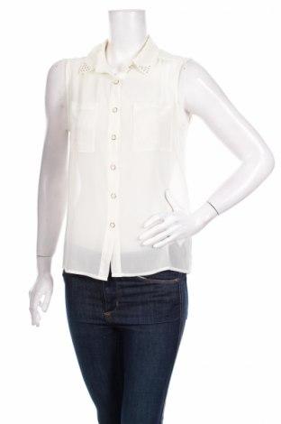 Γυναικείο πουκάμισο Forever 21, Μέγεθος S, Χρώμα Εκρού, 100% πολυεστέρας, Τιμή 11,13€