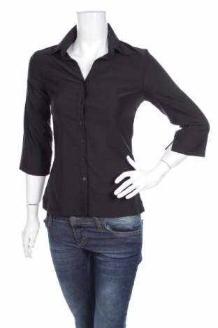 Γυναικείο πουκάμισο H&M, Μέγεθος S, Χρώμα Μαύρο, 67% βισκόζη, 33% πολυεστέρας, Τιμή 16,70€