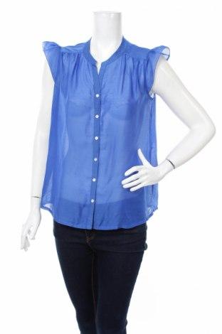 Γυναικείο πουκάμισο H&M, Μέγεθος M, Χρώμα Μπλέ, 100% πολυεστέρας, Τιμή 3,74€