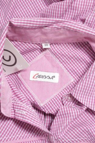 Γυναικείο πουκάμισο Larissa, Μέγεθος S, Χρώμα Ρόζ , 66% βαμβάκι, 32% πολυαμίδη, 2% ελαστάνη, Τιμή 11,75€