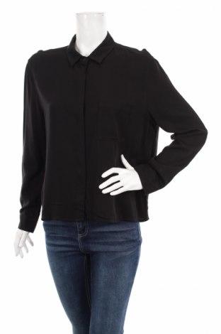 Γυναικείο πουκάμισο Mango, Μέγεθος L, Χρώμα Μαύρο, 100% βισκόζη, Τιμή 26,94€