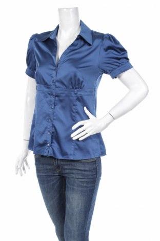 Γυναικείο πουκάμισο Orsay, Μέγεθος L, Χρώμα Μπλέ, 95% πολυεστέρας, 5% ελαστάνη, Τιμή 11,13€