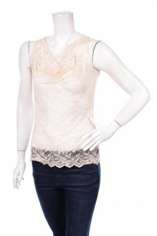 Γυναικείο αμάνικο μπλουζάκι Expresso, Μέγεθος XS, Χρώμα  Μπέζ, 100% πολυεστέρας, Τιμή 2,32€