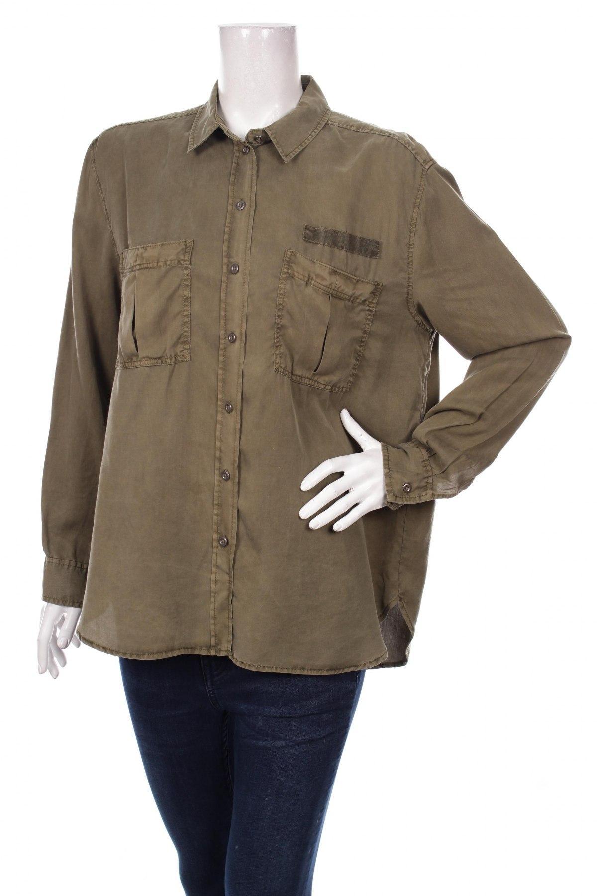 Γυναικείο πουκάμισο, Μέγεθος L, Χρώμα Πράσινο, Τιμή 15,46€