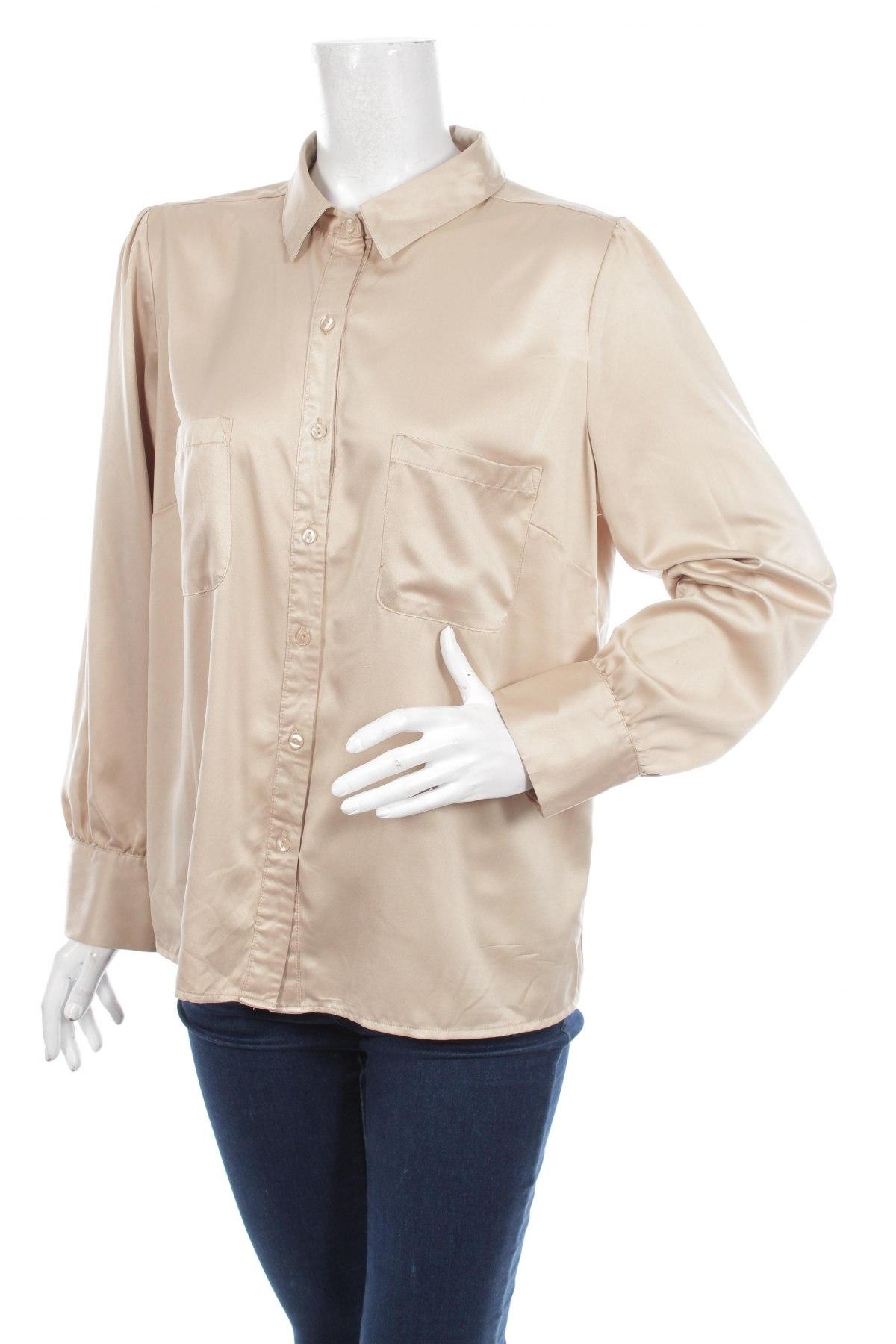 Γυναικείο πουκάμισο Autonomy, Μέγεθος XL, Χρώμα  Μπέζ, 100% πολυεστέρας, Τιμή 19,59€