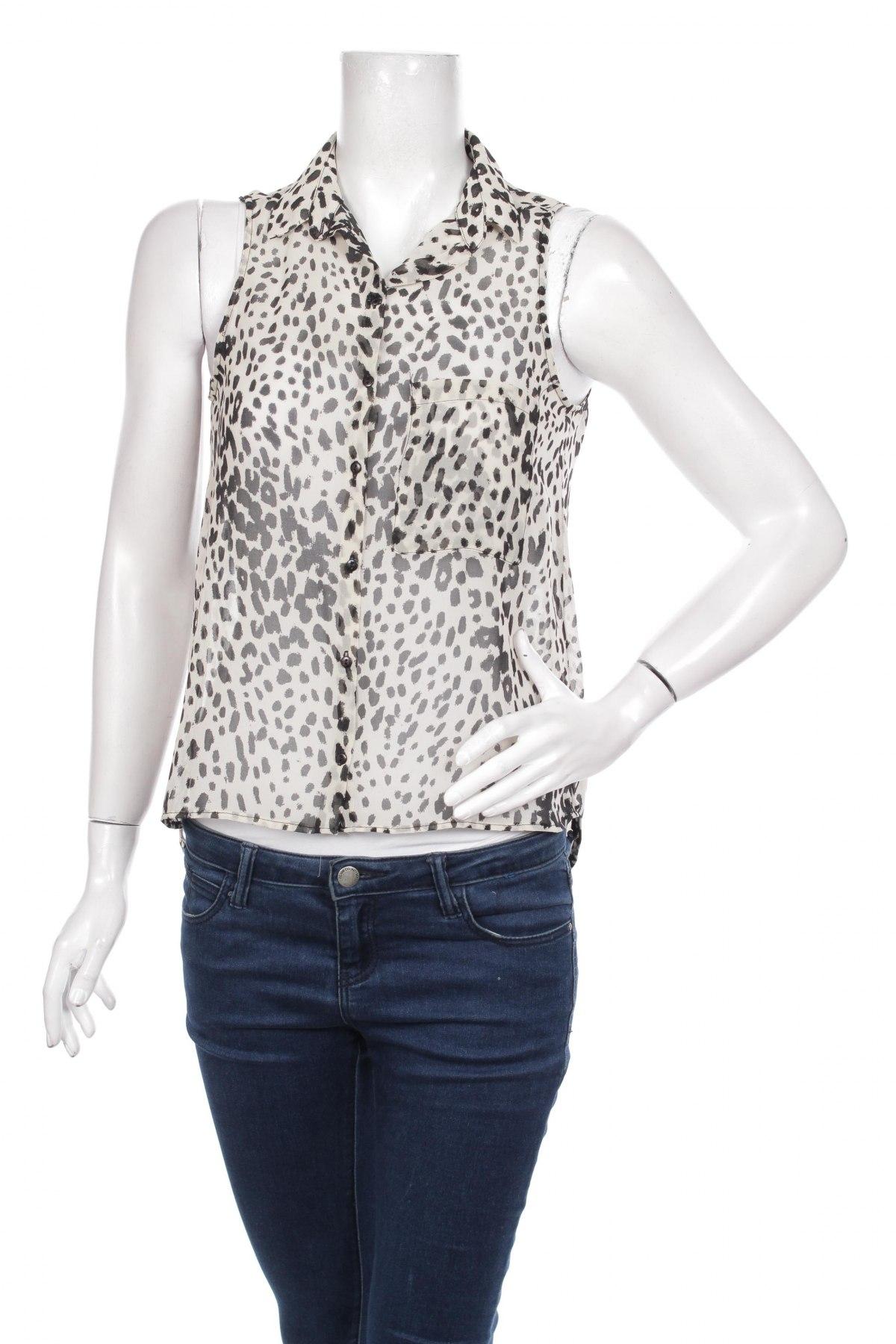 Γυναικείο πουκάμισο Bershka, Μέγεθος S, Χρώμα Γκρί, Τιμή 16,08€