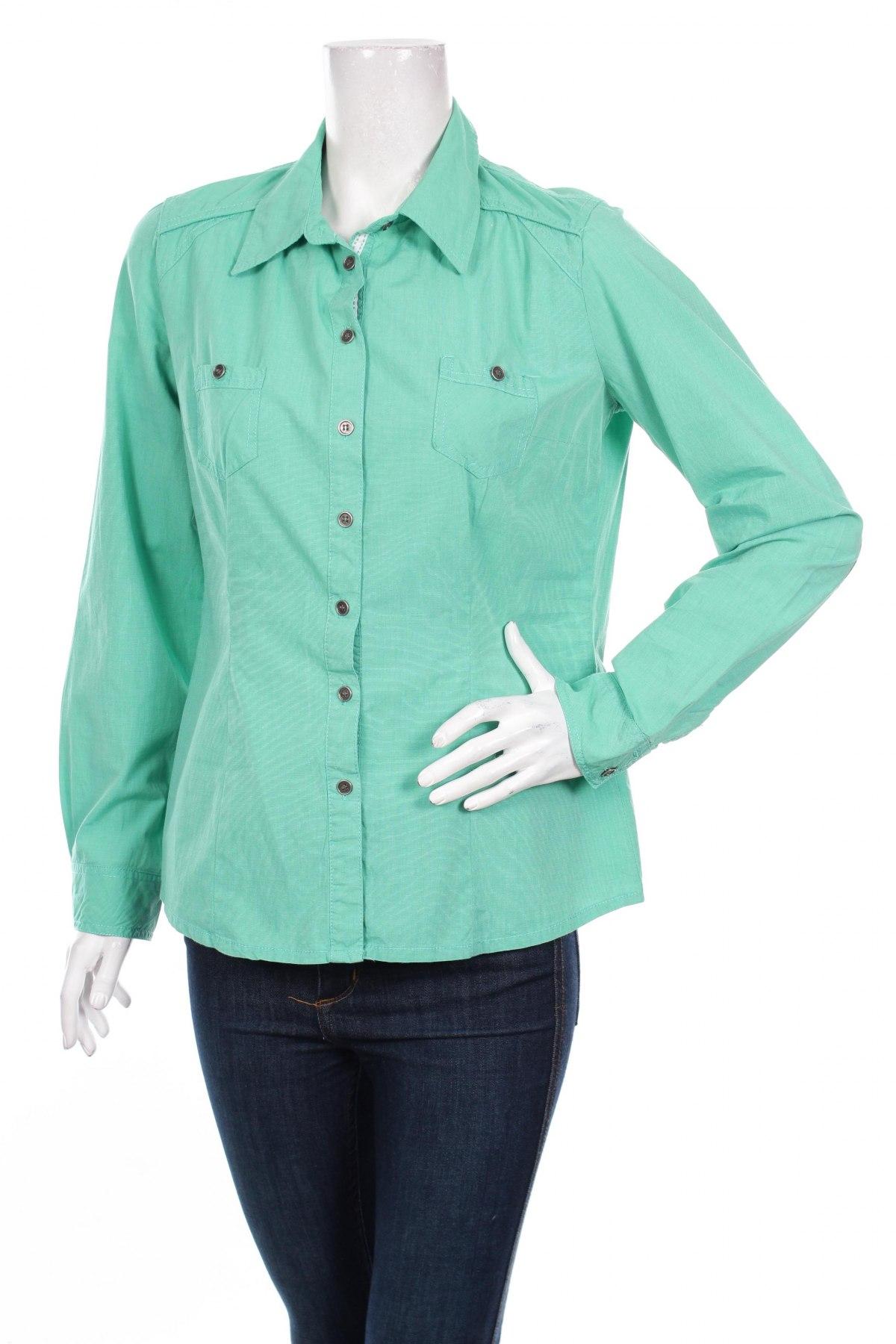 Γυναικείο πουκάμισο Colours Of The World, Μέγεθος M, Χρώμα Πράσινο, 100% βαμβάκι, Τιμή 16,70€