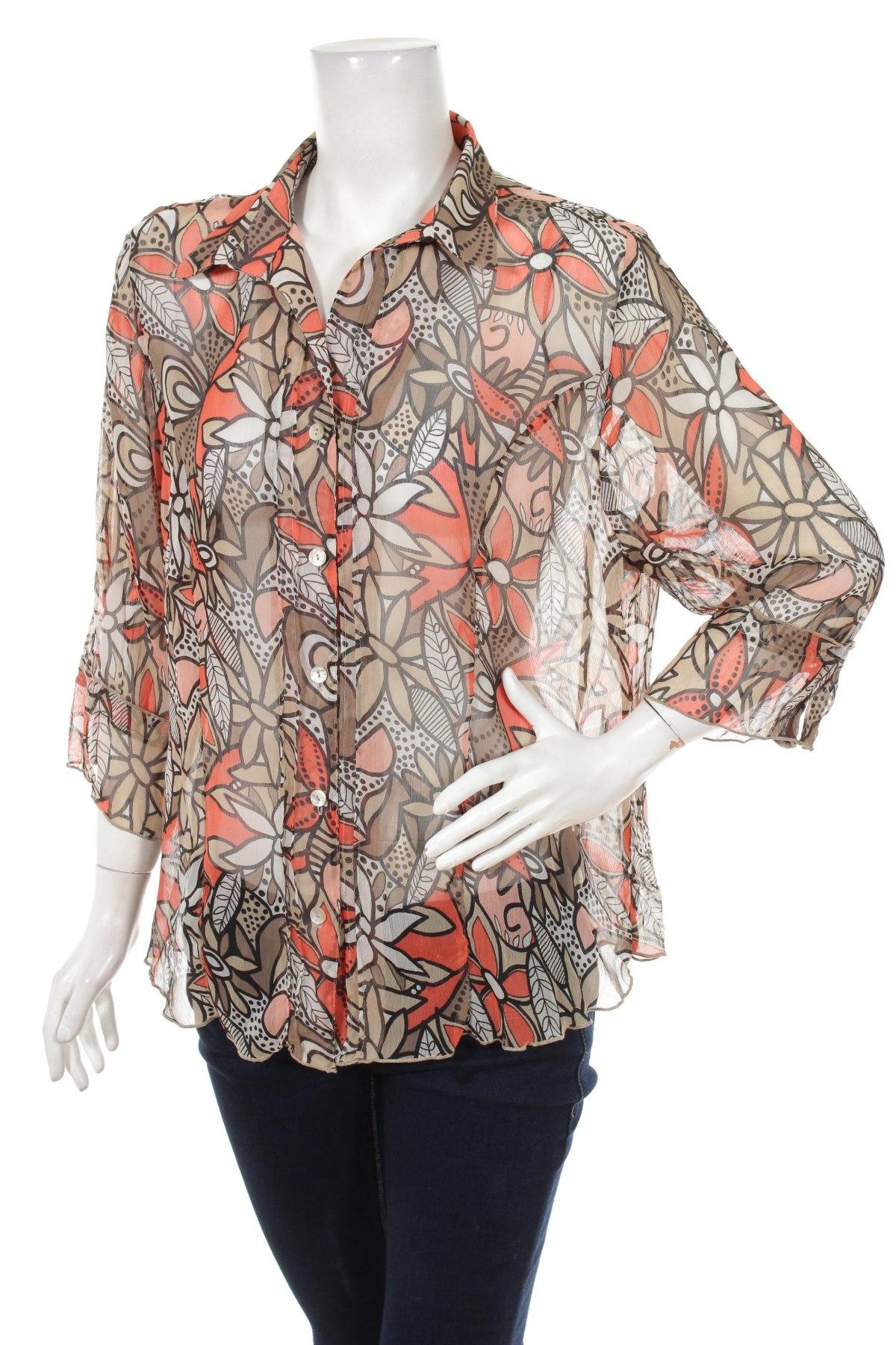 Γυναικείο πουκάμισο Gina Laura, Μέγεθος L, Χρώμα Πολύχρωμο, Τιμή 17,32€