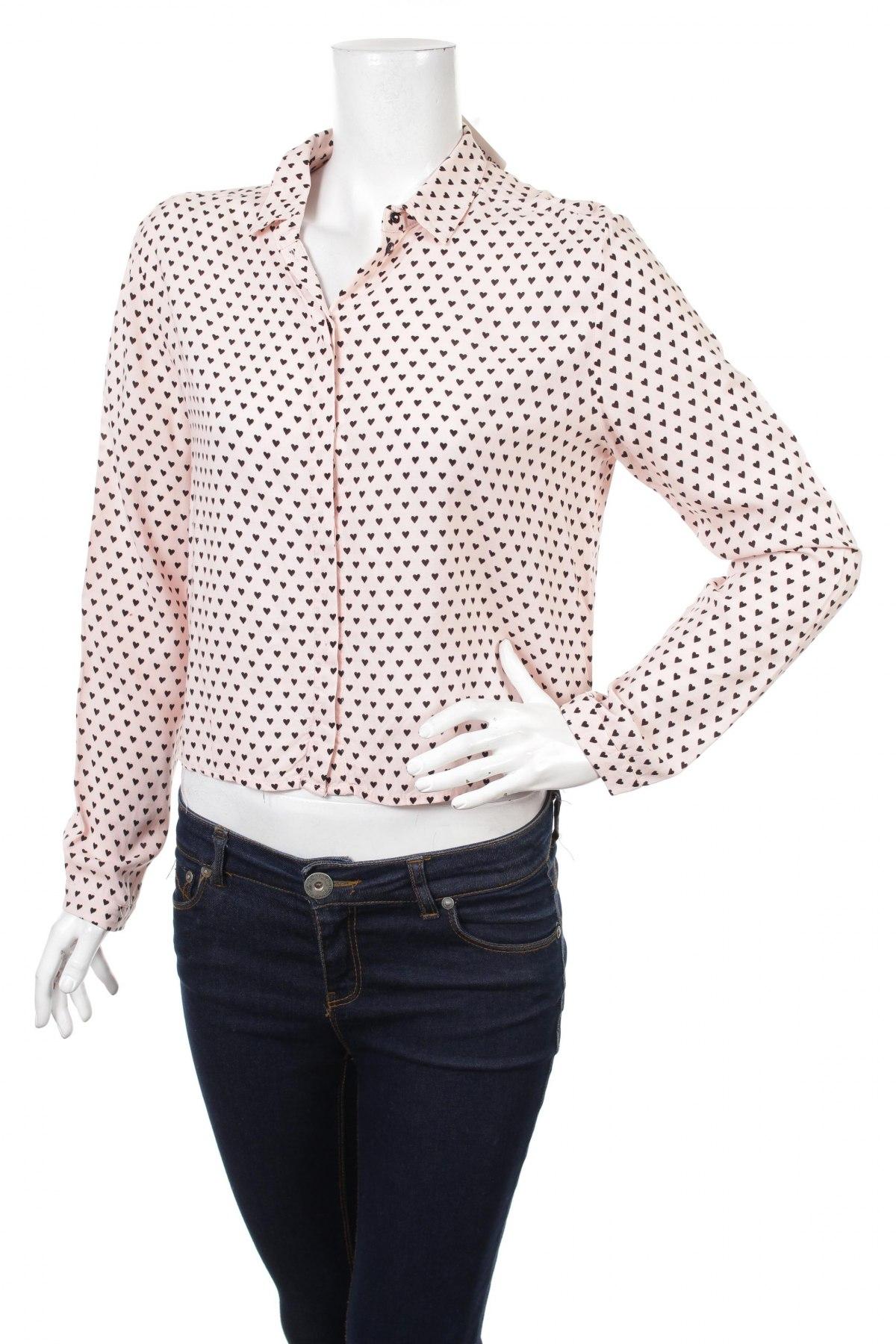 Γυναικείο πουκάμισο H&M, Μέγεθος M, Χρώμα Ρόζ , Τιμή 18,04€