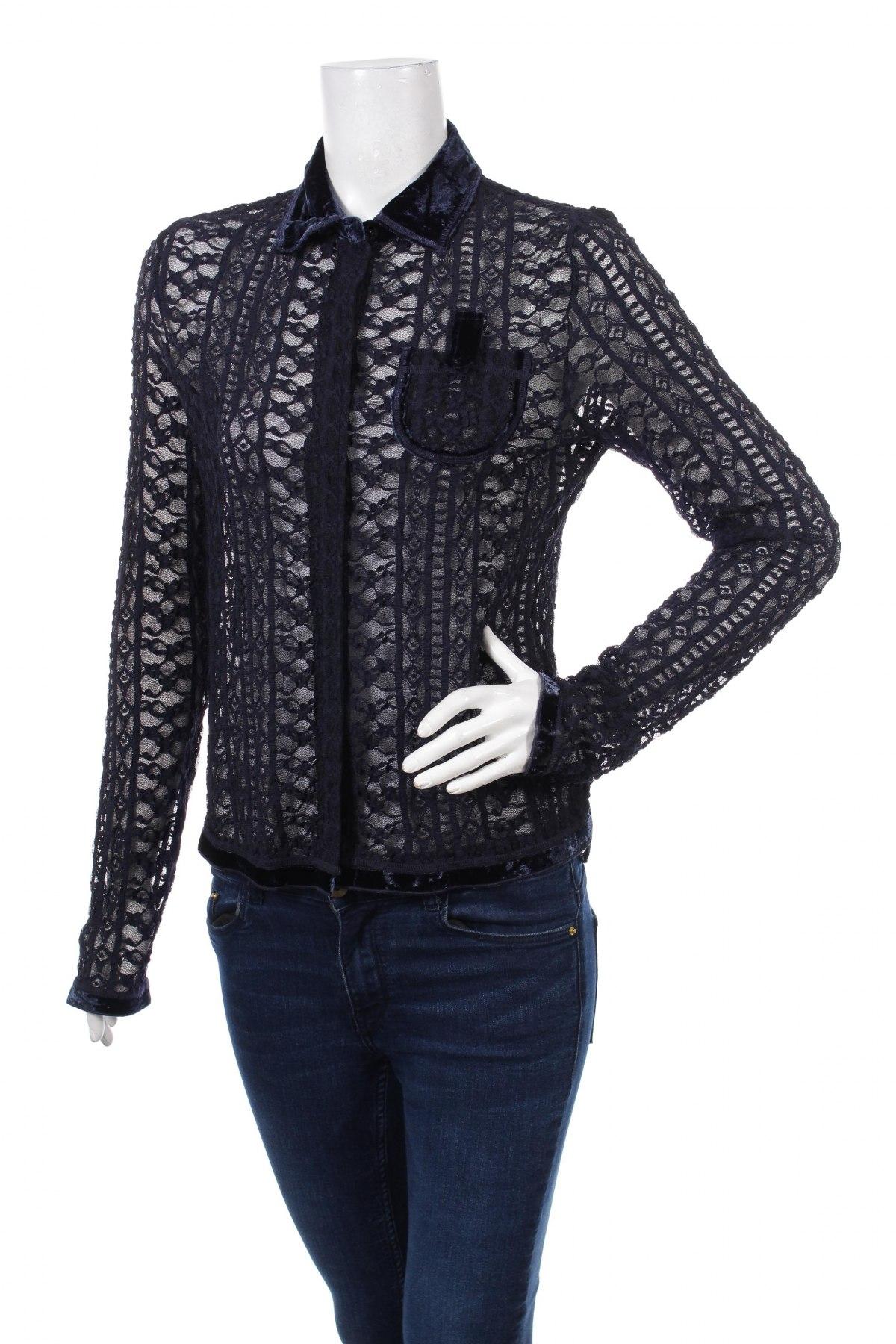 Γυναικείο πουκάμισο Hucke, Μέγεθος S, Χρώμα Μπλέ, 90% πολυαμίδη, 10% ελαστάνη, Τιμή 17,53€