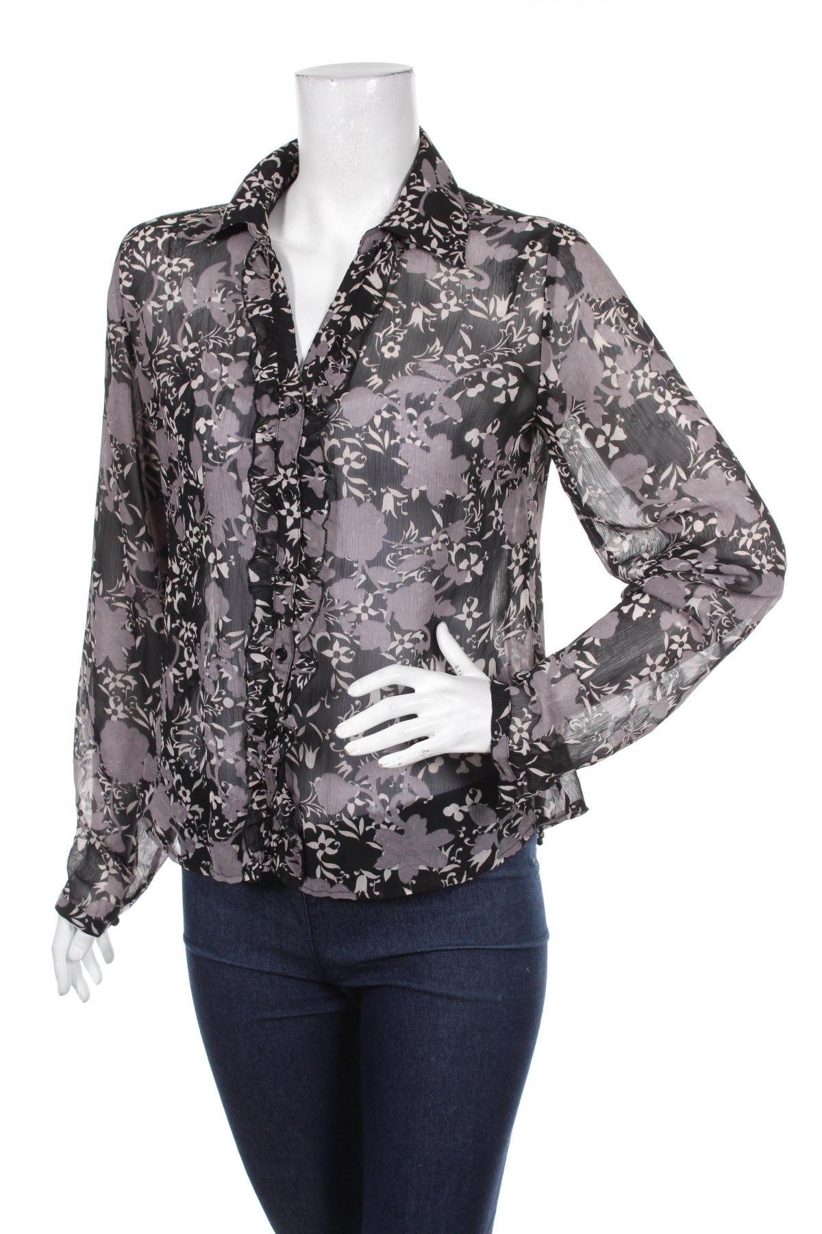 Γυναικείο πουκάμισο Zero, Μέγεθος S, Χρώμα Μαύρο, 100% πολυεστέρας, Τιμή 12,99€