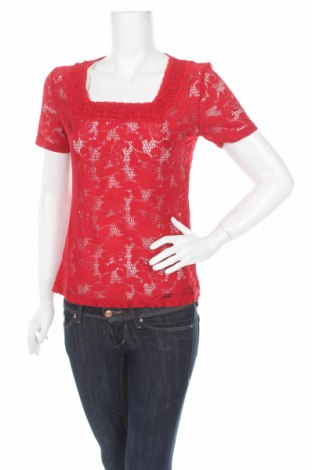 Дамска блуза Liz Jordan, Размер M, Цвят Червен, 95% полиамид, 5% еластан, Цена 4,75лв.