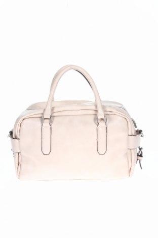 Γυναικεία τσάντα Zara, Χρώμα  Μπέζ, Δερματίνη, Τιμή 10,89€