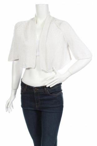 Дамска жилетка, Размер M, Цвят Бял, 83% памук, 17% полиамид, Цена 5,52лв.