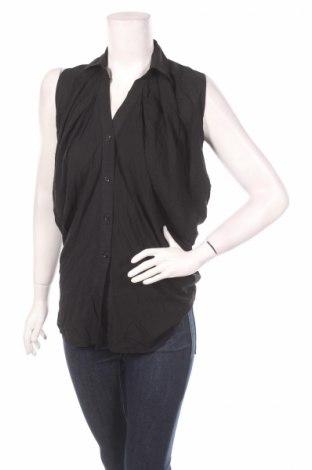 Дамска риза, Размер M, Цвят Черен, Памук, Цена 4,25лв.