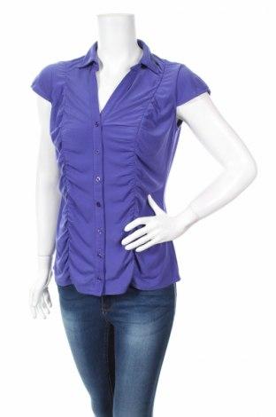Γυναικείο πουκάμισο Dressbarn, Μέγεθος S, Χρώμα Μπλέ, 96% πολυεστέρας, 4% ελαστάνη, Τιμή 3,67€