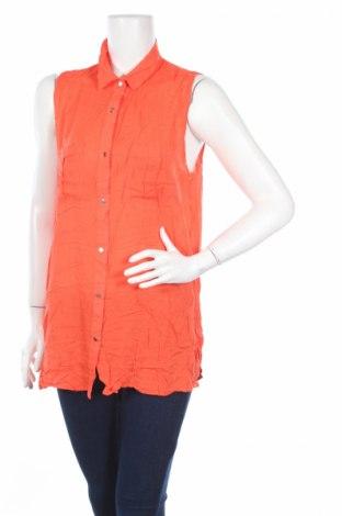Дамска риза Now, Размер L, Цвят Оранжев, Вискоза, Цена 4,00лв.