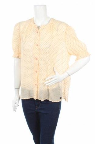 Дамска риза Numph, Размер XL, Цвят Бежов, 100% полиестер, Цена 23,73лв.