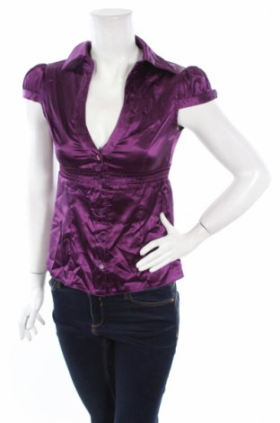 Дамска риза Tally Weijl, Размер S, Цвят Лилав, 96% полиестер, 4% еластан, Цена 7,15лв.