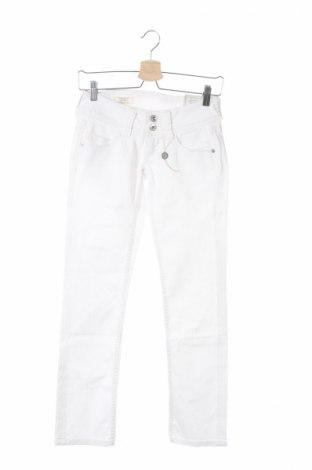 Дамски дънки Pepe Jeans, Размер XS, Цвят Бял, 98% памук, 2% еластан, Цена 198,00лв.