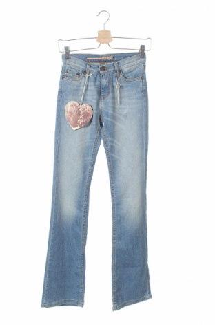 Дамски дънки Please, Размер XS, Цвят Син, 98% памук, 2% еластан, Цена 190,50лв.