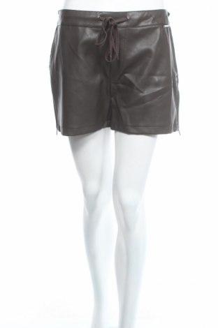 Γυναικείο κοντό δερμάτινο παντελόνι Twin-Set Simona Barbieri