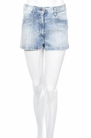 Dámske kraťasy  Just Cavalli, Veľkosť S, Farba Modrá, 98% bavlna, 2% elastan, Cena  49,92€