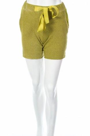 Γυναικείο κοντό παντελόνι Roberto Collina, Μέγεθος S, Χρώμα Πράσινο, Βαμβάκι, μετάξι, Τιμή 27,99€