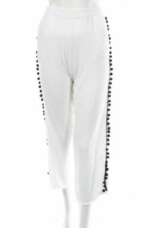 Дамски панталон Akep, Размер S, Цвят Бял, 70% памук, 20% вискоза, 5% полиамид, 5% полиестер, Цена 41,37лв.