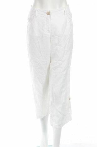 Γυναικείο παντελόνι G.W., Μέγεθος M, Χρώμα Λευκό, Λινό, Τιμή 8,66€