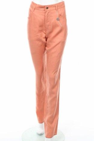 Γυναικείο παντελόνι Just Cavalli, Μέγεθος L, Χρώμα Πορτοκαλί, Λινό, Τιμή 167,01€