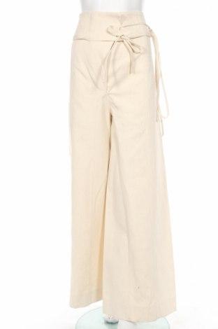 Pantaloni de femei Marni, Mărime S, Culoare Ecru, 58% cânepă, 42% poliamidă, Preț 554,94 Lei