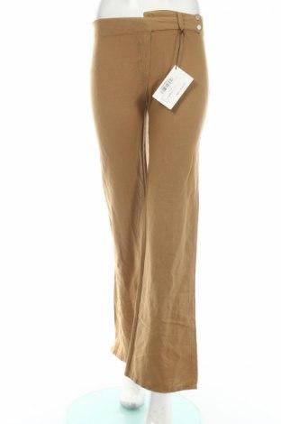 Дамски панталон PLOUMANAC'H, Размер XS, Цвят Кафяв, 55% лен, 45% памук, Цена 27,95лв.
